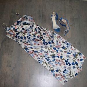 BOBBI ROCCO Slip Flowered Print Dress
